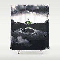 The Landing A Zebes Surrealism Shower Curtain