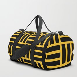 The Black lines pattern Duffle Bag