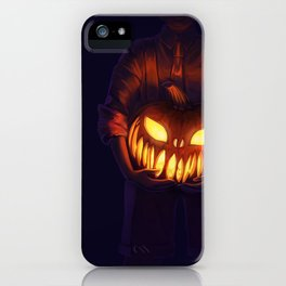 Jack'o'Lantern (#Drawlloween2016 Series) iPhone Case