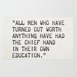 Walter Scott quote Rug
