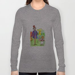Pure Imagination: Willy Wonka & Oompa Loompa by Michael Richey White Long Sleeve T-shirt