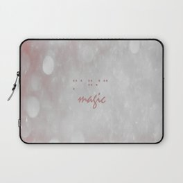 red, white, circles,magic, braille, Laptop Sleeve
