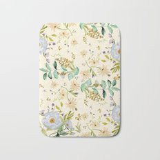 DUSTY BLUE PATTERN Bath Mat