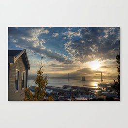 Cabin with a view at Sunrise Canvas Print