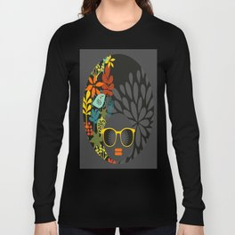 Afro Diva : Sophisticated Lady Gray Long Sleeve T-shirt