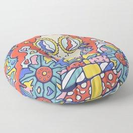 Groovy Christmas Flashback Floor Pillow