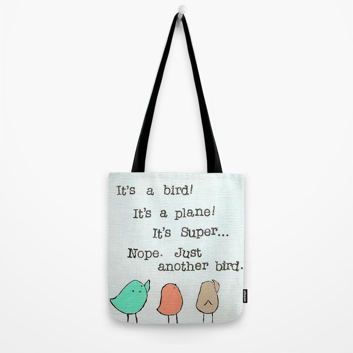 Plain Bird Tote Bag