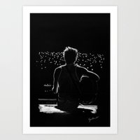 niall Art Prints featuring TMH Niall by Cyrilliart