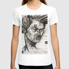 Warrior - Charcoal on Newspaper Figure Drawing T-shirt