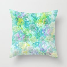 Enchanted Spring Floral Abstract Throw Pillow