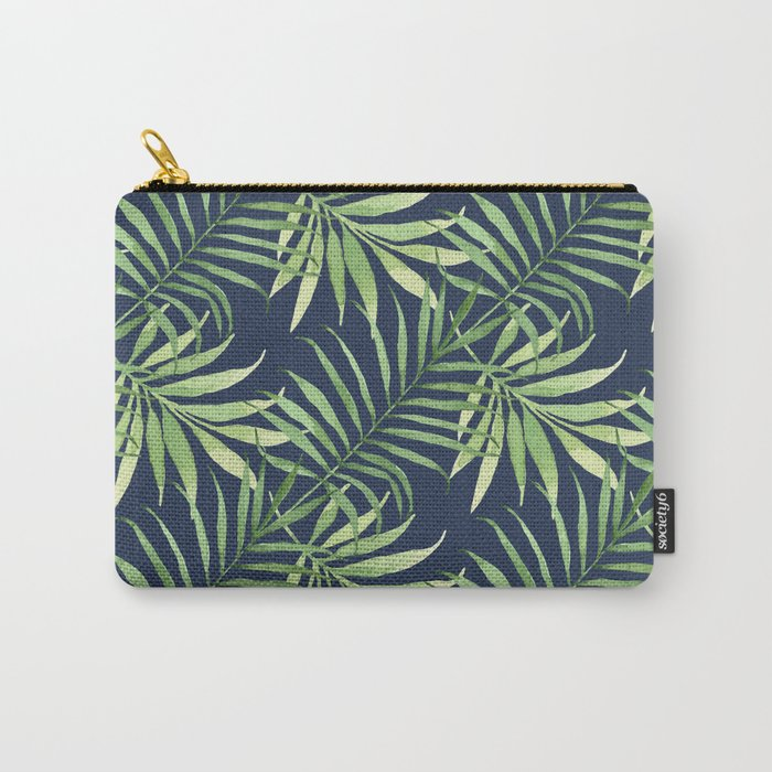 Tropical Branches on Dark Pattern 05 Carry-All Pouch
