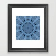 Blue Ice Kaleidoscope Framed Art Print