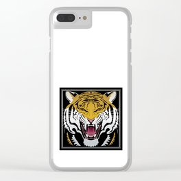 Tiger Head Clear iPhone Case