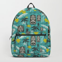 Island Tiki Aqua Backpack