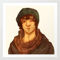 grantaire Art Prints featuring Grantaire by deadpokerface
