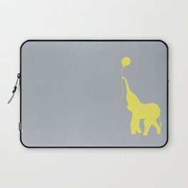 Elephant with Balloon - Lemon Laptop Sleeve