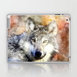 Wolf Animal Wild Nature-watercolor Illustration Laptop & iPad Skin