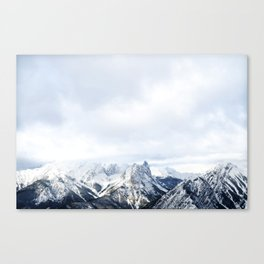 Looking out over the Rockies, in Banff Canvas Print