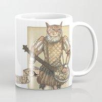 banjo Mugs featuring Banjo Cat by Felis Simha