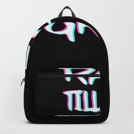 Rave Till The Grave Techno Trippy EDM | Festival Hardcore Backpack