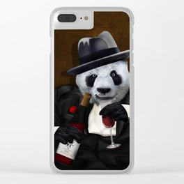 PANDA with Tuxedo iPhone 4 4s 5 5c 6 7, pillow case, mugs and tshirt Clear iPhone Case