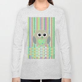 owl/colorful/bright/ Long Sleeve T-shirt