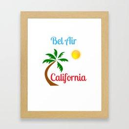 Bel Air California Palm Tree and Sun Framed Art Print