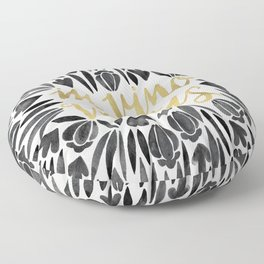 In Wine, There is Truth – Black & Gold Floor Pillow