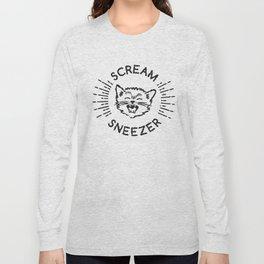 Scream Sneezer Cat Long Sleeve T-shirt