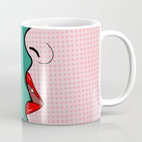 lichtenstein Mugs featuring sexy by mark ashkenazi