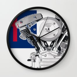 Christian Biker Flag Wall Clock