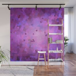 Abstract Stained glass violet mosaic Wall Mural