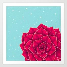 Big Holidays Christmas Red Echeveria Design Art Print