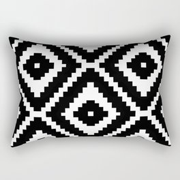 Monochrome Ikat Diamond Pattern Rectangular Pillow