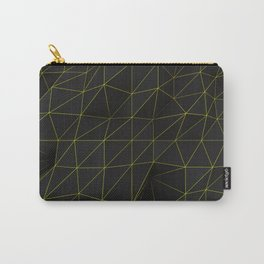 Dark low poly displaced surface with glowing lines Carry-All Pouch