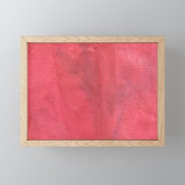 Muted Red Tie Dye Framed Mini Art Print