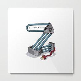 MACHINE LETTERS - Z Metal Print