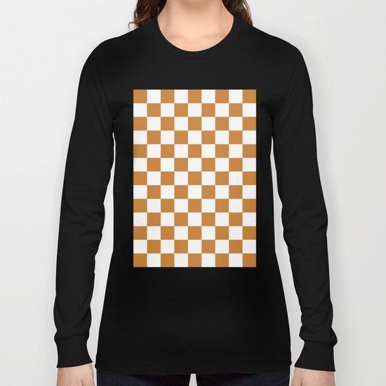 Checker (Bronze/White) Long Sleeve T-shirt