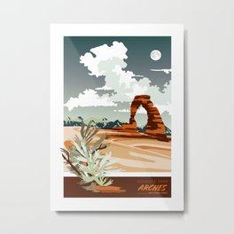 DELICATE ARCH MOAB UTAH Metal Print