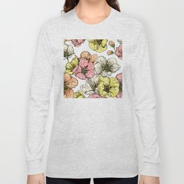 Colorful Poppies Long Sleeve T-shirt
