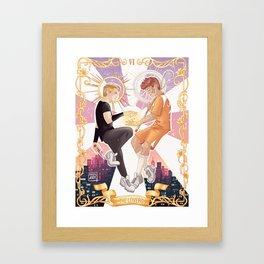 The lovers. Framed Art Print