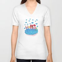holiday V-neck T-shirts featuring Holiday by ezgi karaata