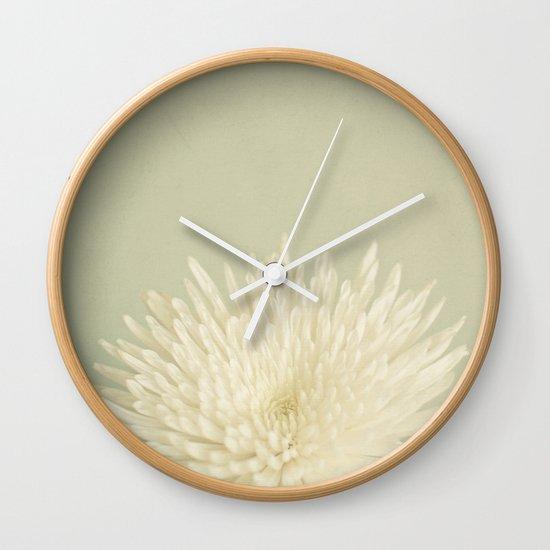 Pale Beauty Wall Clock