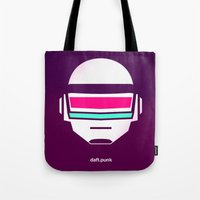 daft punk Tote Bags featuring Daft Punk by agustain