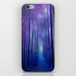 Fantasy Path Purple Blue iPhone Skin