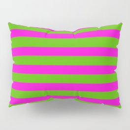 Hot Pink And Kelly Green Stripes Pillow Sham