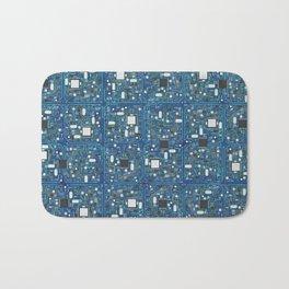 Blue tech Bath Mat