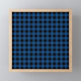 Plaid (blue/black) Framed Mini Art Print