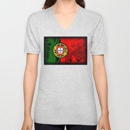 circuit board Portugal (Flag) Unisex V-Neck