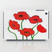 poppy iPad Cases featuring Poppy  by Armine Nersisian